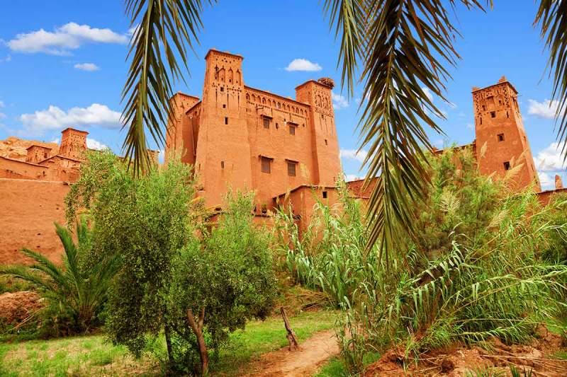 Almenas y torres fortificadas Ait Ben Haddou
