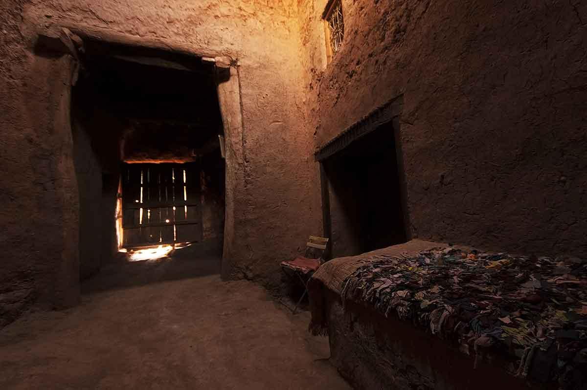 Interior de una casa en Ait Ben Haddou