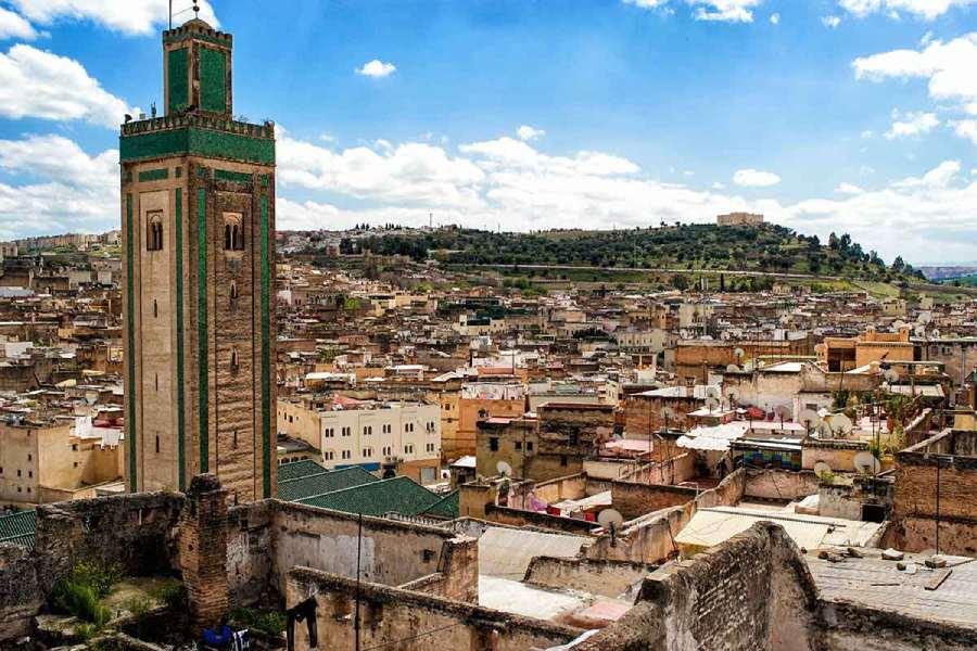 Vista de la medina de Fez desde una terraza