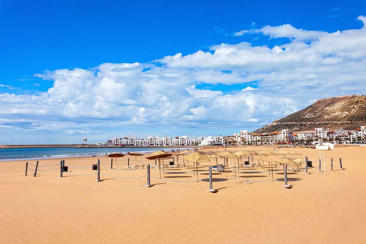 Playa Agadir en Marruecos