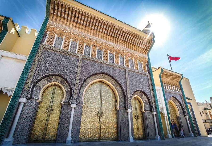 Puerta palacio real de Fez