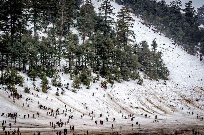 Michlifen estación de esquí en Marruecos
