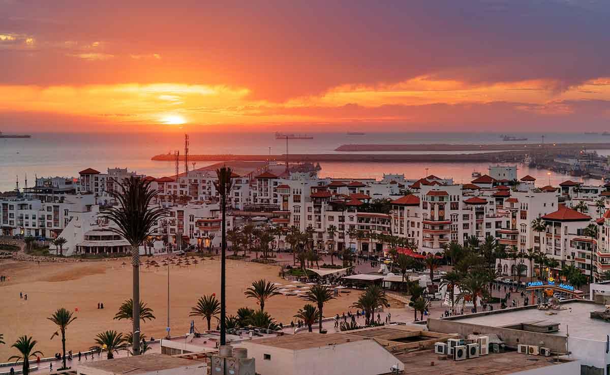 Atardecer en Agadir
