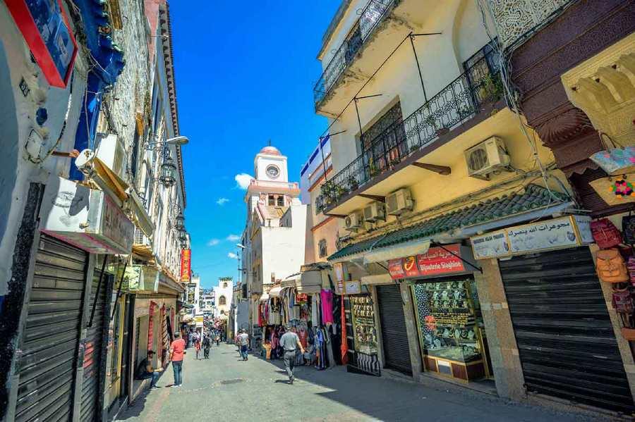 Calle medina de Tánger
