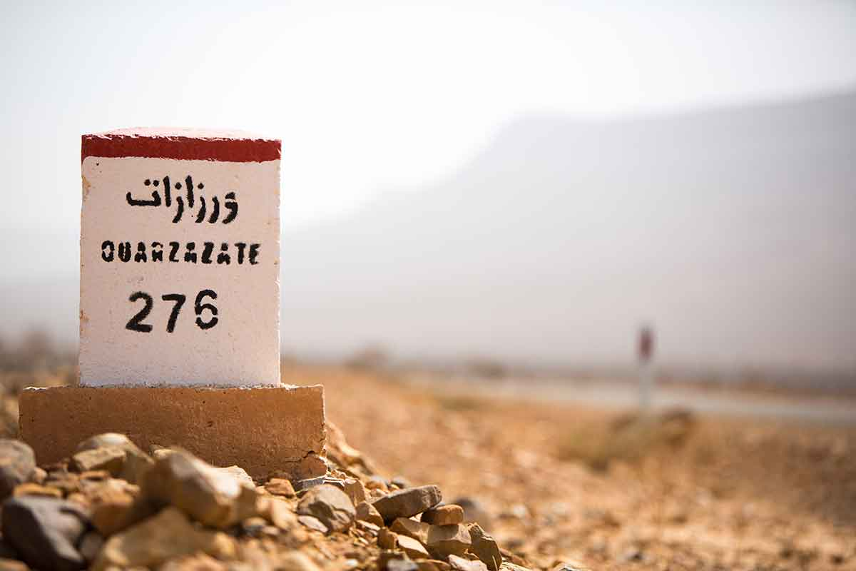 Distancias kilométricas carreteras de Marruecos