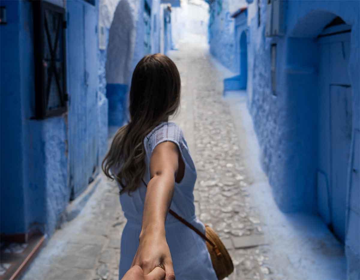 Color azul Chaouen