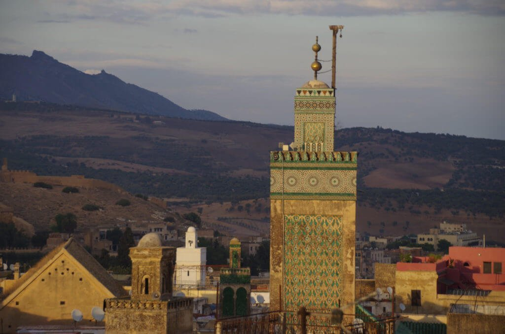 Minarete de Mezquita en Fez