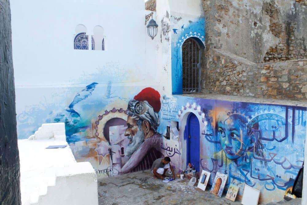 Festival de pinturas en Asilah