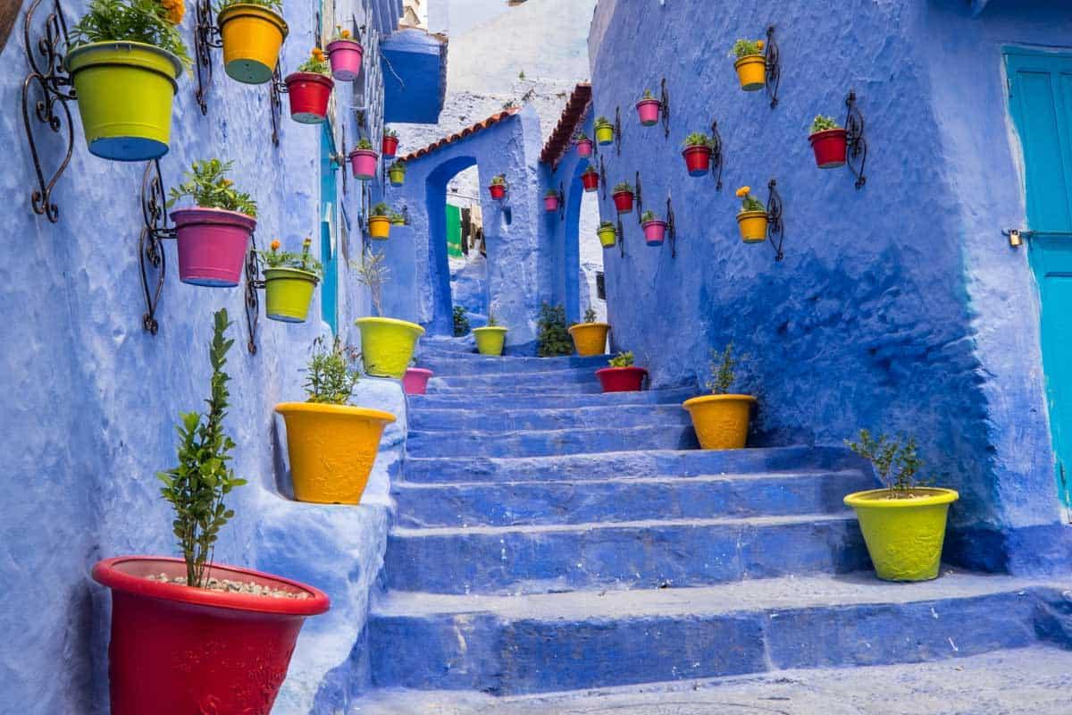 Calles de color azul de Chaouen