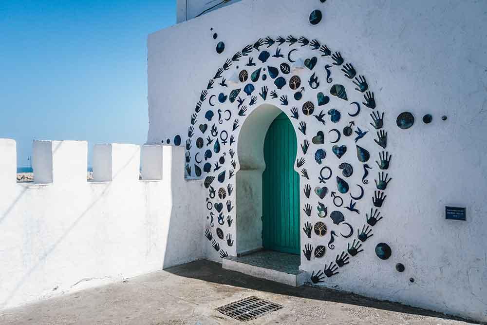 Callejulas blancas de la medina de Asilah