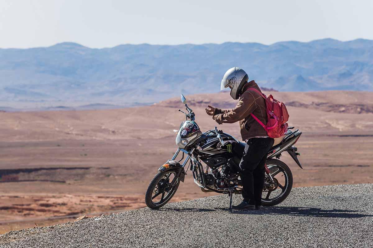 Como viajar en Moto por Marruecos