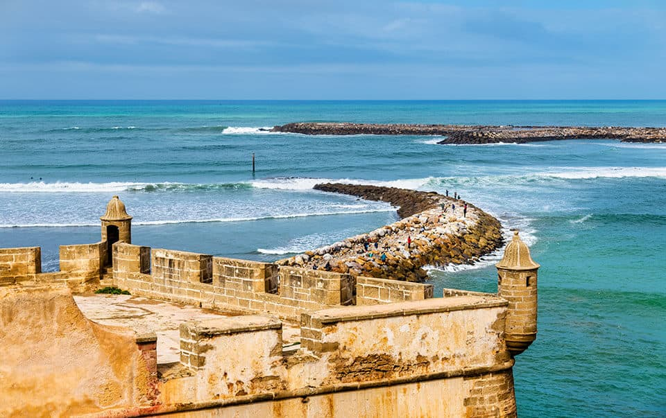 Kasbah de Rabat en el mar