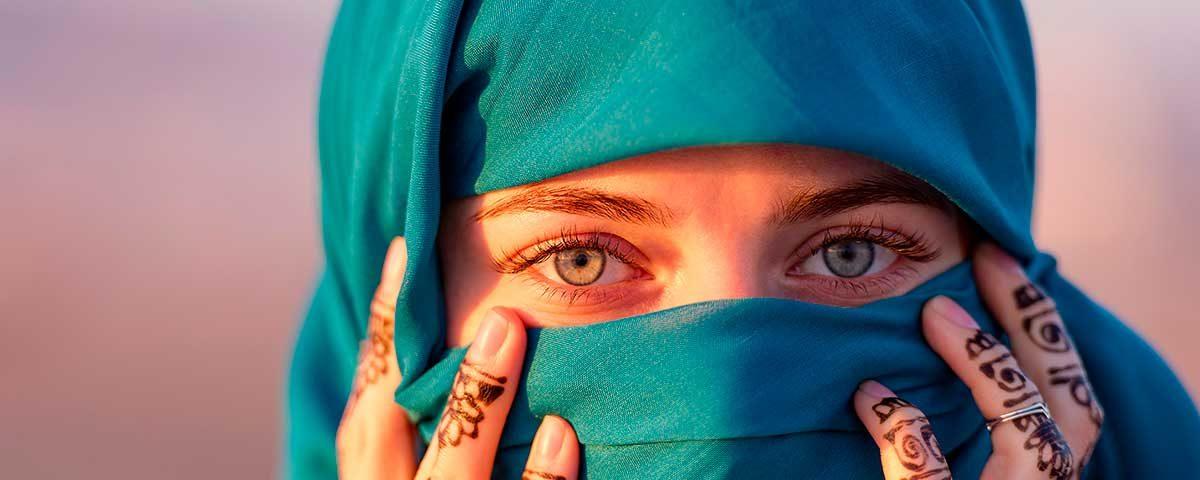 Velo religion en Marruecos