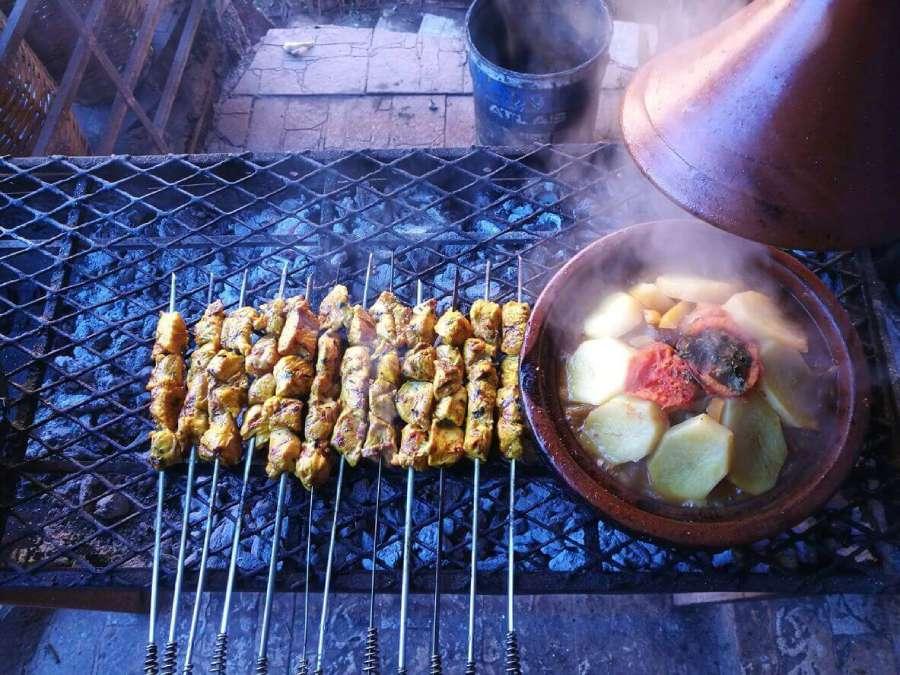 Comer en la calle en Marruecos