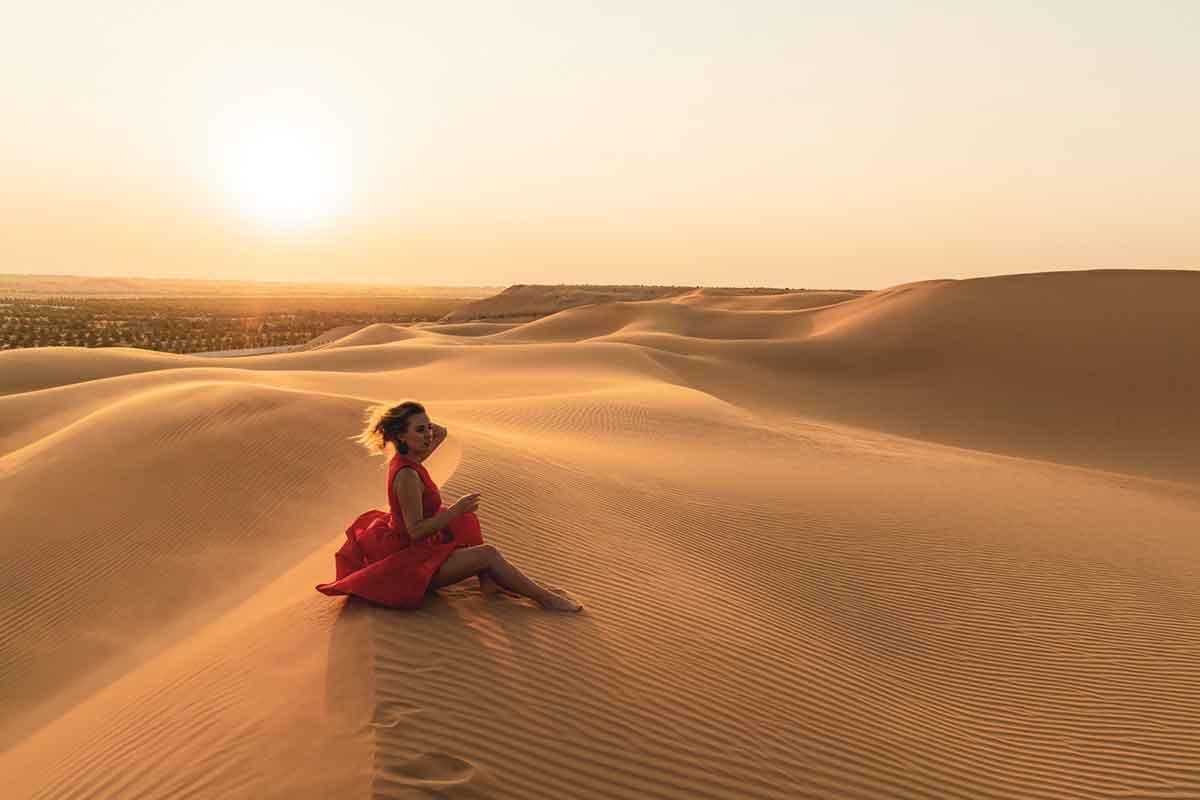 Desierto de dunas cerca de Marrakech
