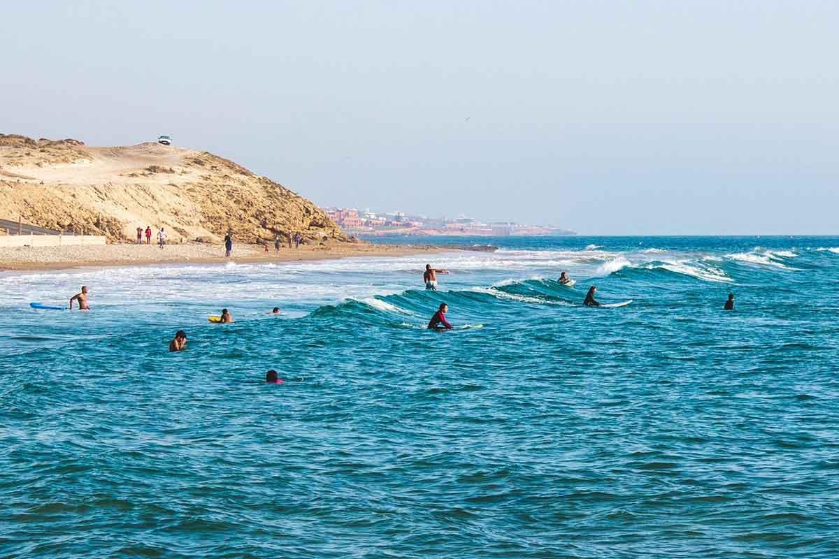 Práctica de Surf en Marruecos