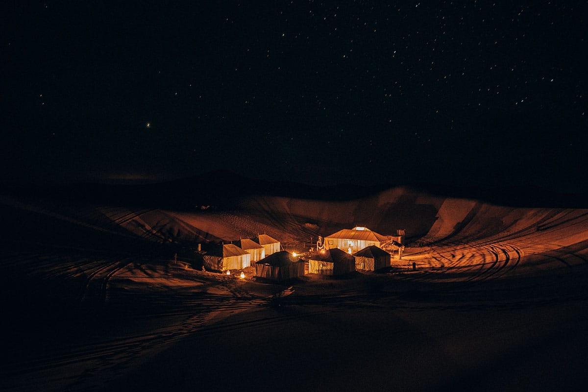Dormir en un campamento de Haimas en pleno desierto de Marruecos