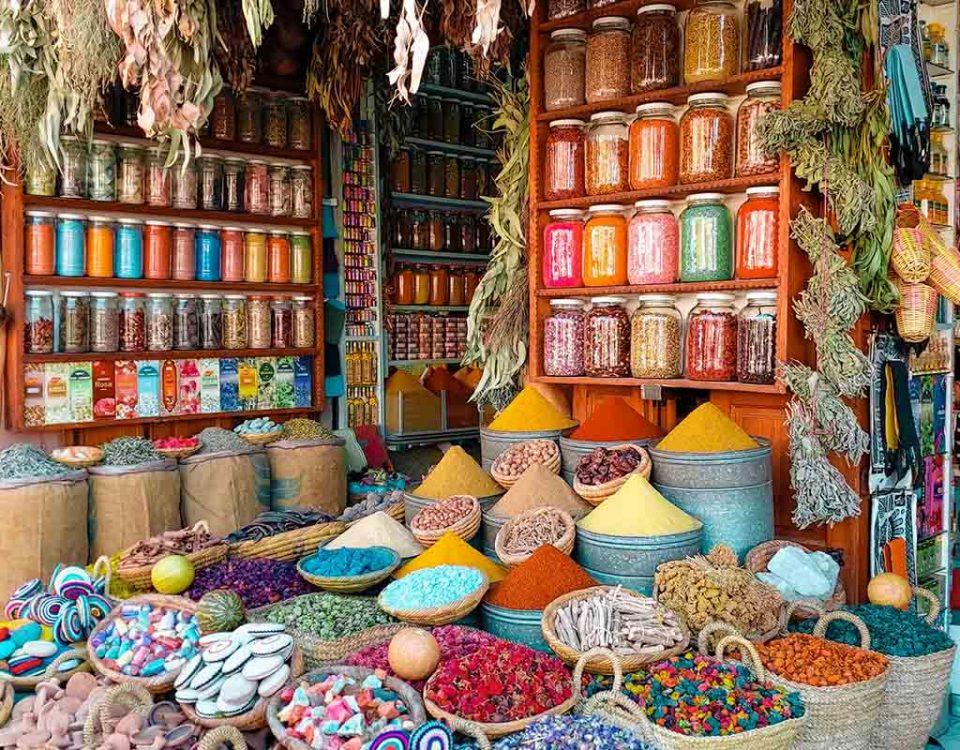 Mecado Especias en Marruecos