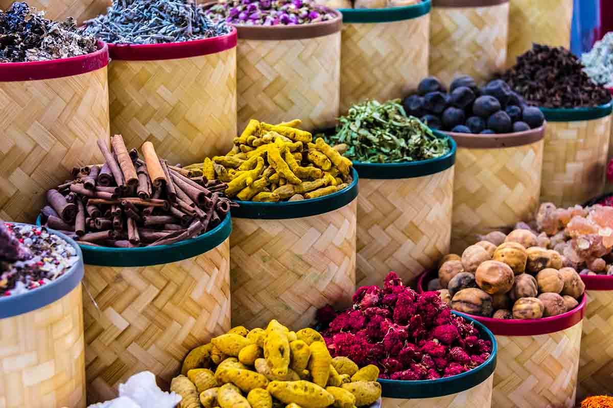 Especias naturales en Marruecos