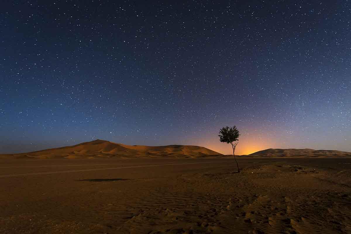 Cielo estrellas en Merzouga
